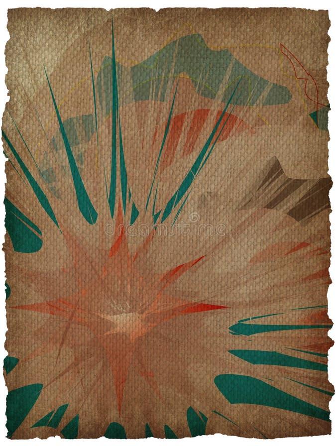 fundo floral do grunge da textura com frame ilustração royalty free