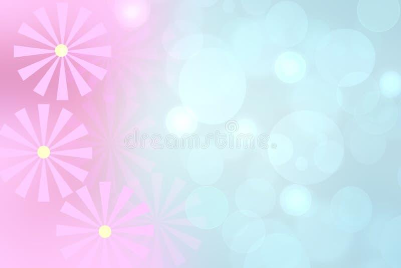 Fundo floral Do inclinação brilhante do rosa do sumário textura azul do backround com espaço para o projeto ilustração do vetor
