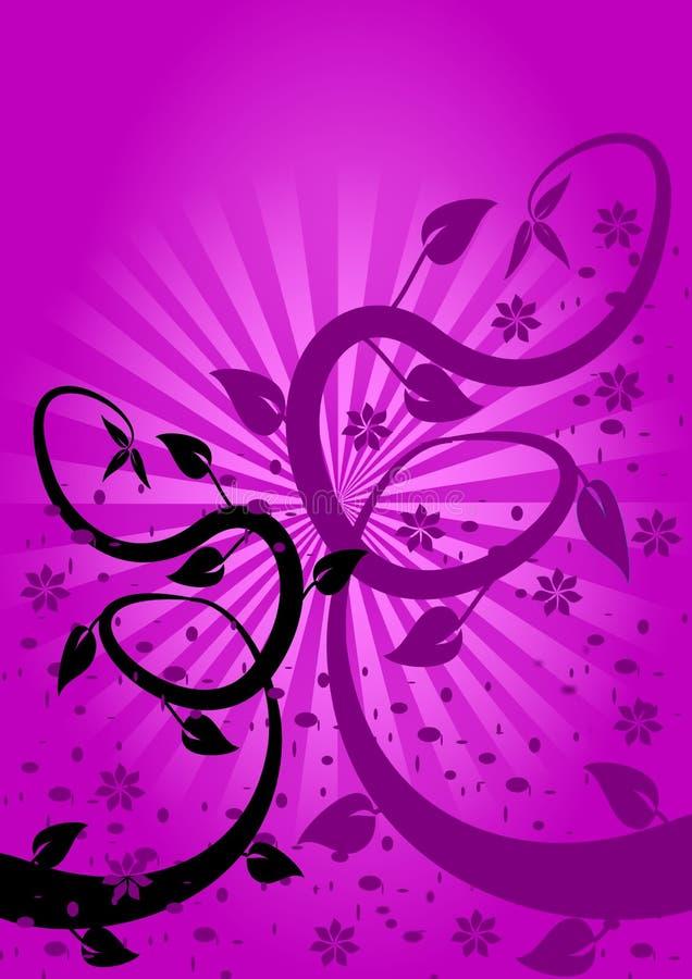 Fundo floral do Lilac ilustração stock