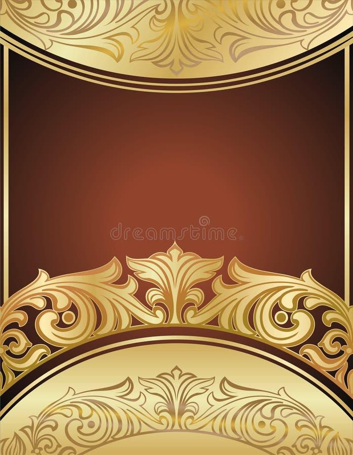 Fundo floral do ouro fotografia de stock