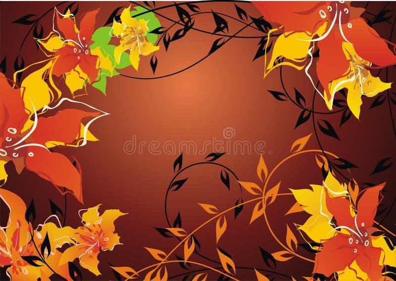 Fundo floral do outono fotografia de stock