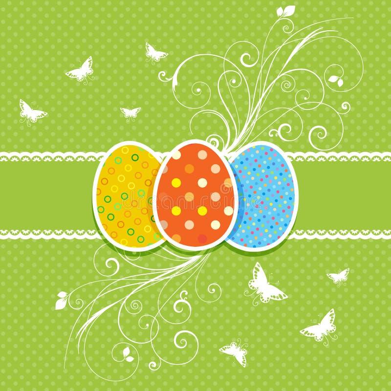 Fundo floral do ovo de Easter ilustração royalty free