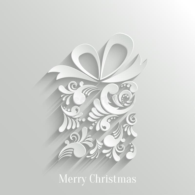 Fundo floral do presente de Absrtact ilustração royalty free