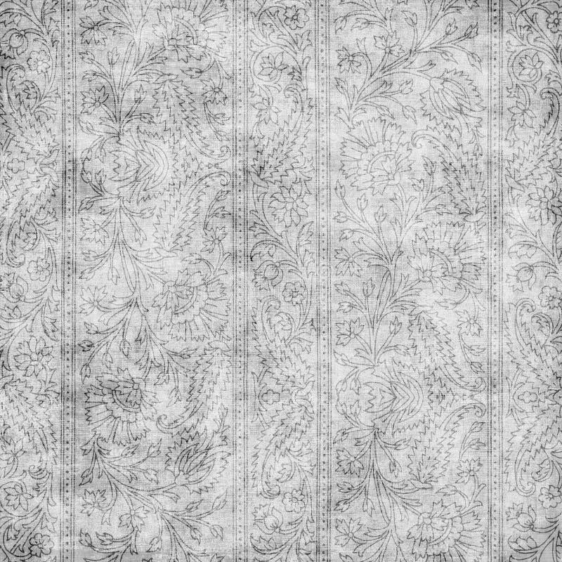 Fundo floral do projeto de Paisley do Batik de Artisti ilustração royalty free
