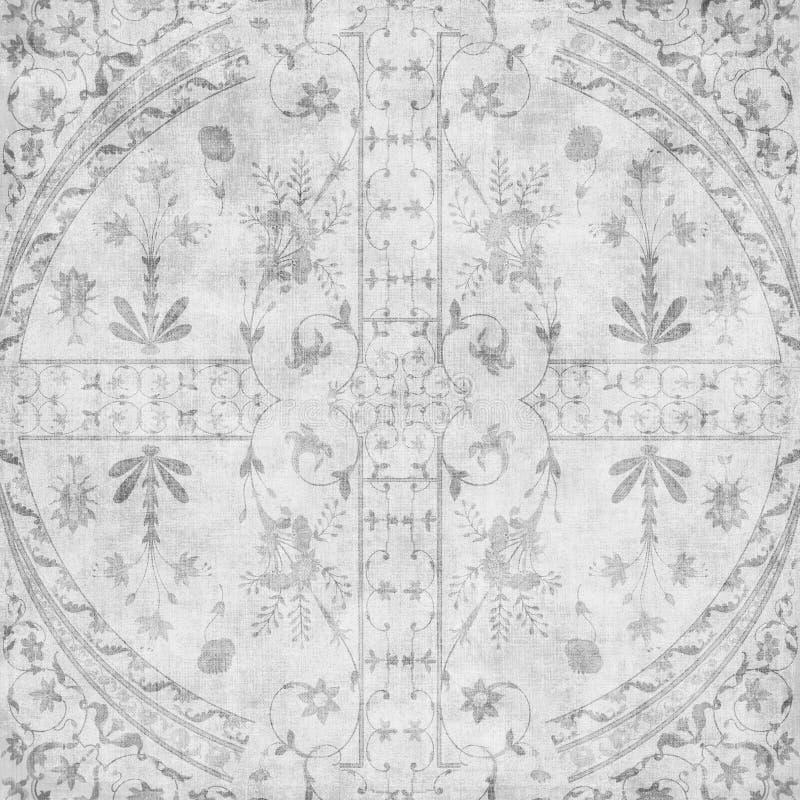 Fundo floral do projeto do Batik de Artisti ilustração royalty free