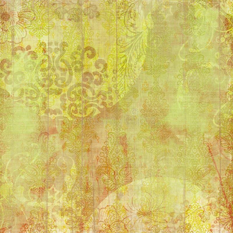Fundo floral do projeto do Batik de Artisti ilustração do vetor
