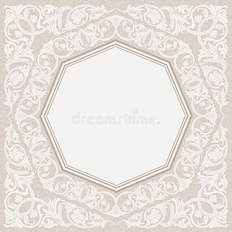 Fundo floral do quadro no motivo árabe ilustração stock