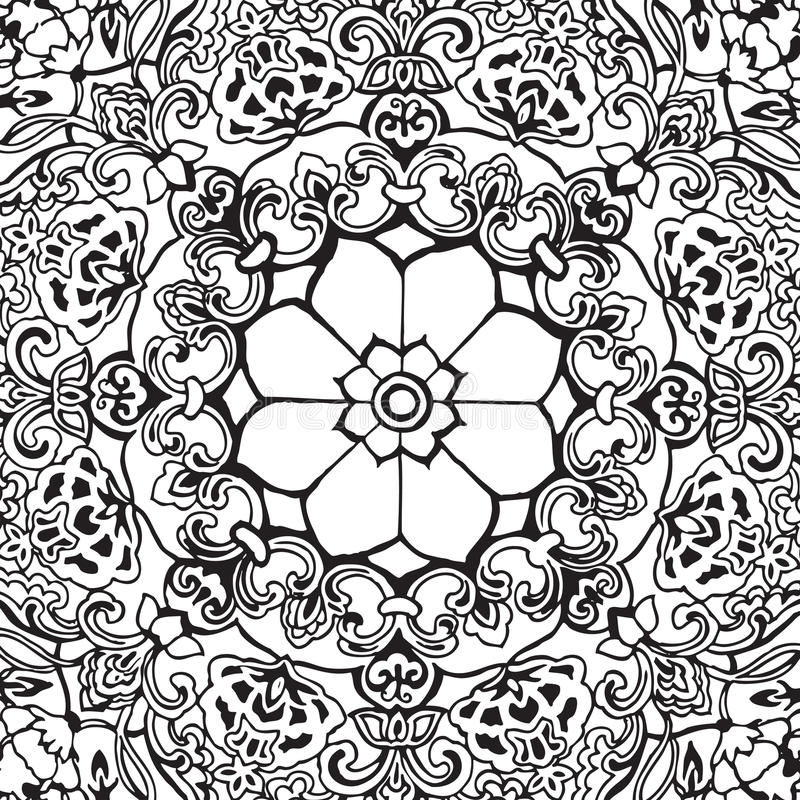 Fundo floral do scrapbook do damasco do vintage ilustração stock