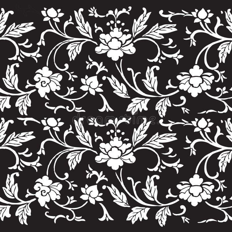 Fundo floral do scrapbook do damasco do vintage ilustração royalty free