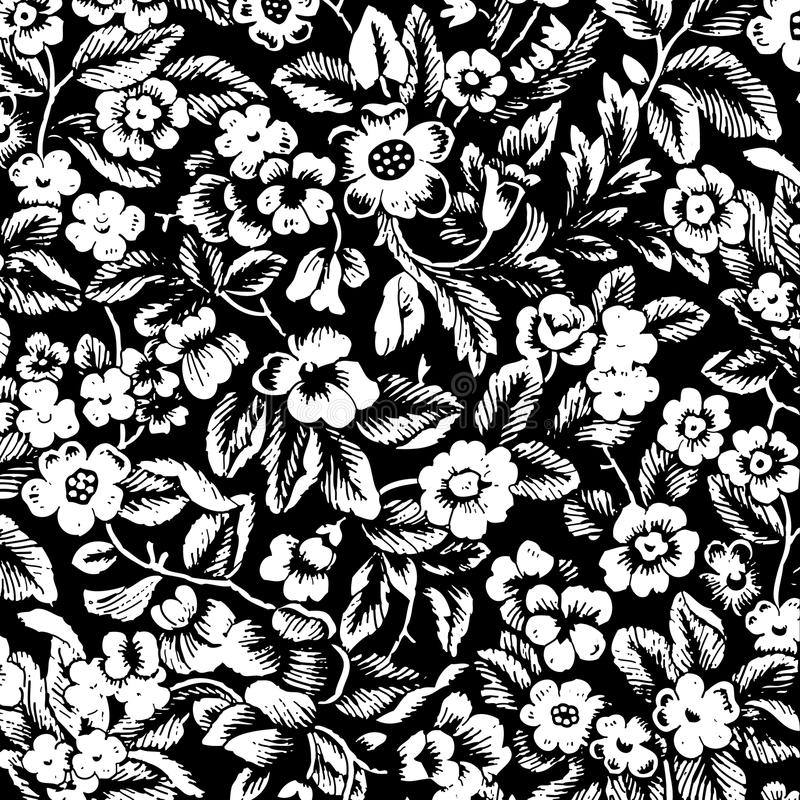 Fundo floral do scrapbook do damasco do vintage sujo ilustração stock