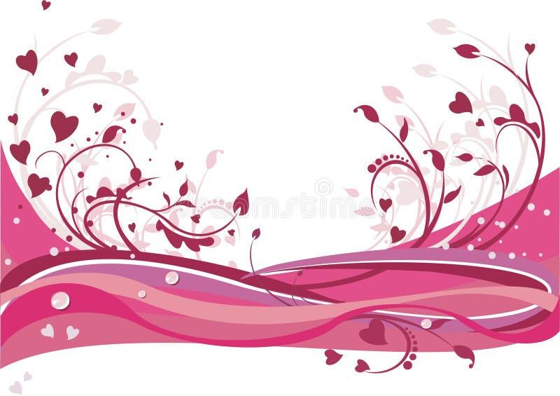 Fundo floral do St. Valentine´s ilustração royalty free