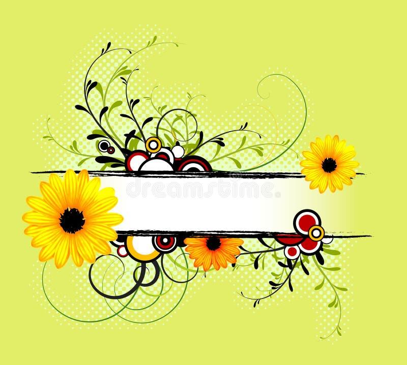 Fundo floral do sumário fresco da mola ilustração stock
