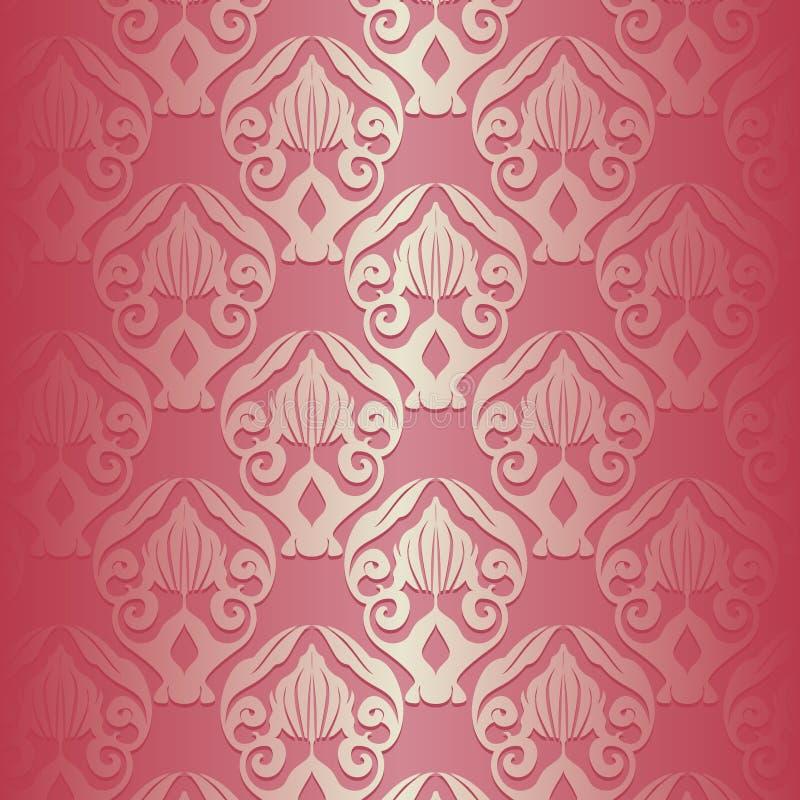 Fundo floral do teste padrão ilustração royalty free