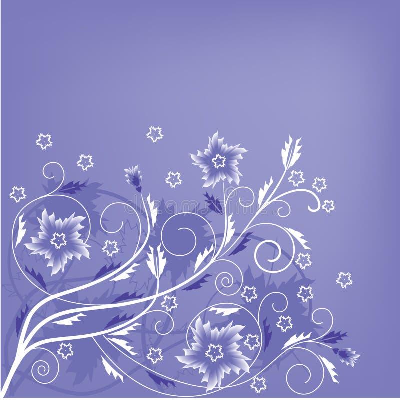 Fundo floral do teste padrão no lilac e no branco ilustração stock