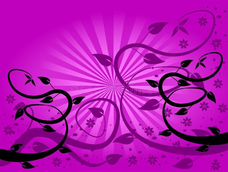 Fundo floral do ventilador do Lilac ilustração stock