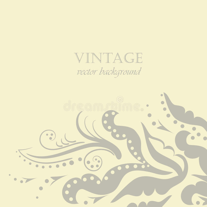 Download Fundo floral do vintage ilustração stock. Ilustração de pastel - 16860490