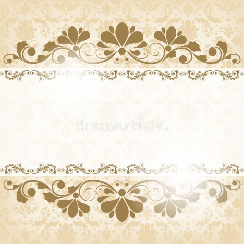 Fundo floral do vintage ilustração do vetor