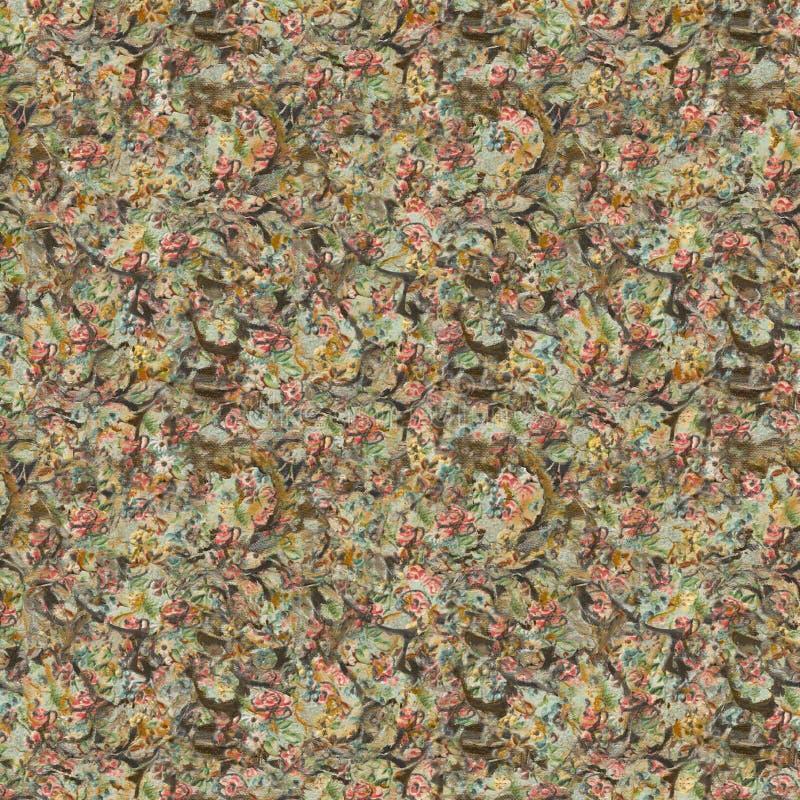 Fundo floral do vintage antigo sujo imagem de stock