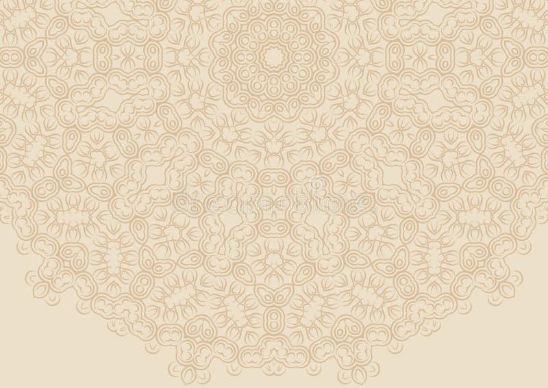Fundo floral do vintage no estilo étnico ilustração royalty free
