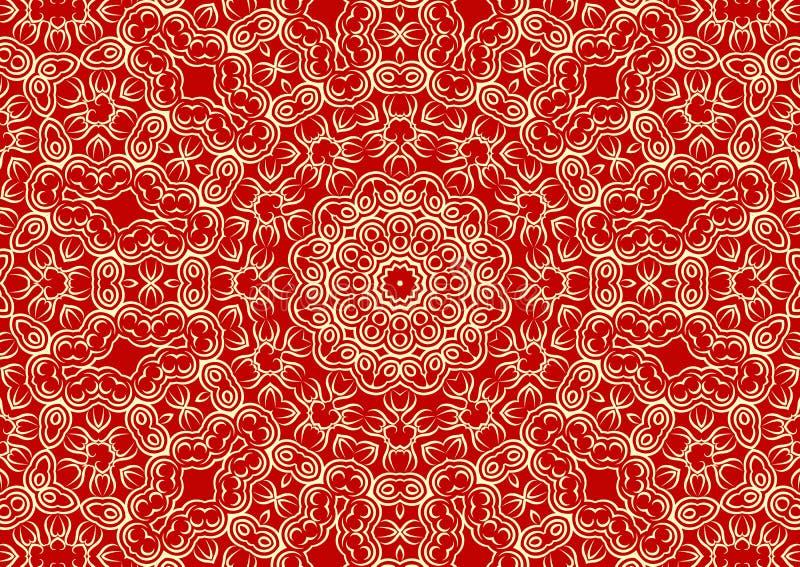 Fundo floral do vintage no estilo étnico ilustração stock