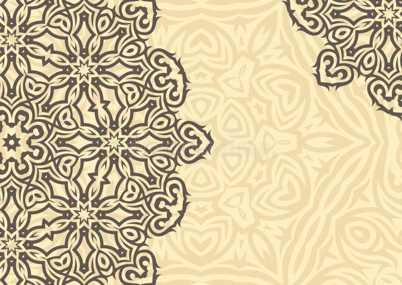 Fundo floral do vintage no estilo étnico Vetor ilustração royalty free