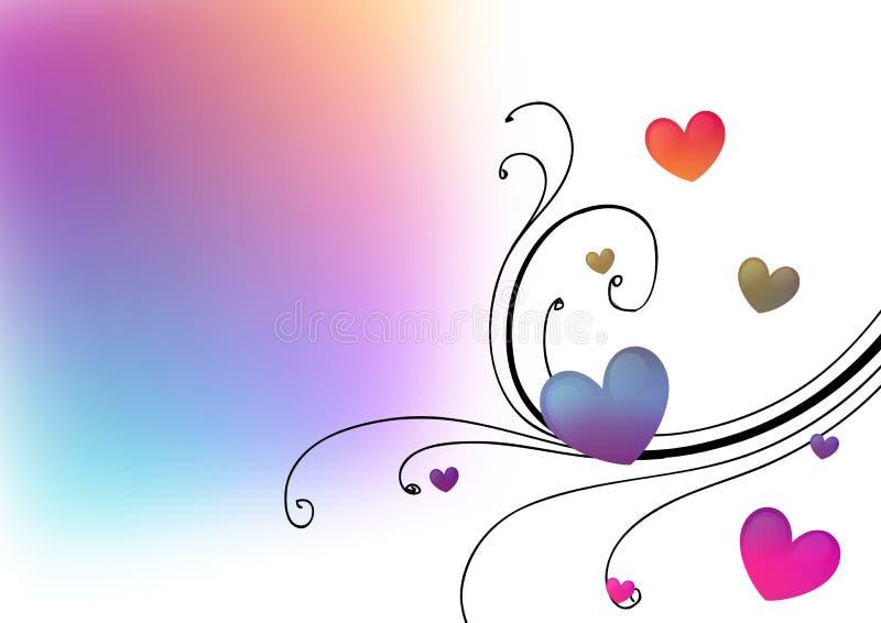 Fundo floral dos corações ilustração royalty free
