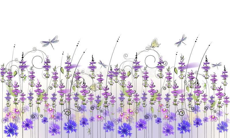 Fundo floral dos wildflowers ilustração stock