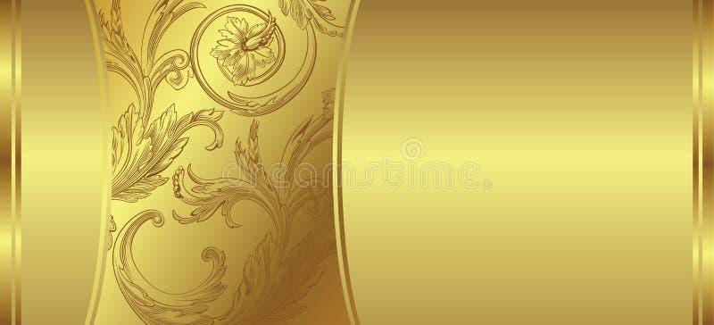 Fundo floral dourado ilustração do vetor