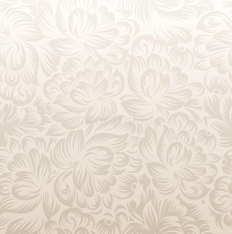 Fundo floral dourado extravagante ilustração do vetor