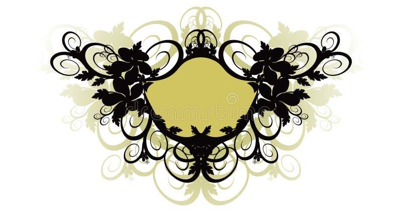 Fundo floral e frame do vetor ilustração stock