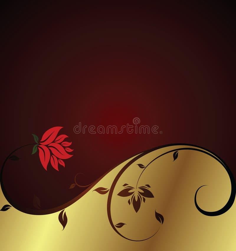 Fundo floral elegante ilustração royalty free