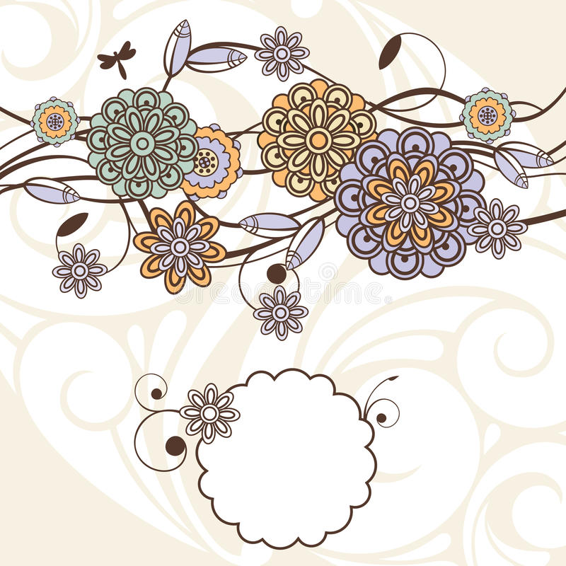 Fundo floral encantador ilustração stock