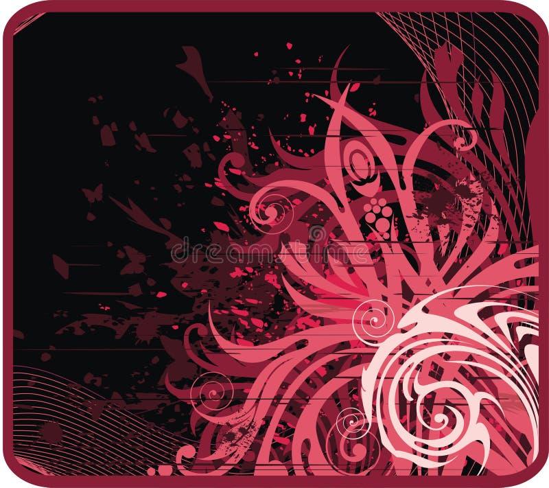 Fundo floral escuro ilustração do vetor