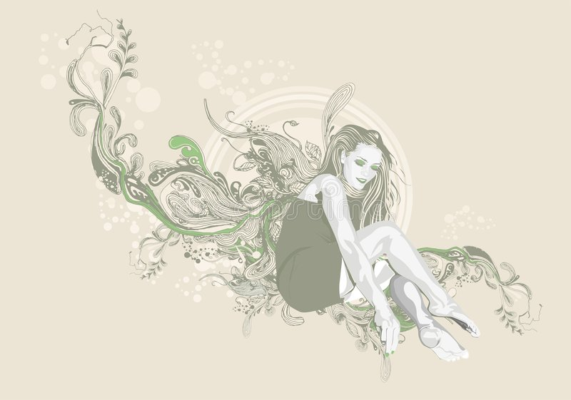 Fundo floral fêmea ilustração do vetor