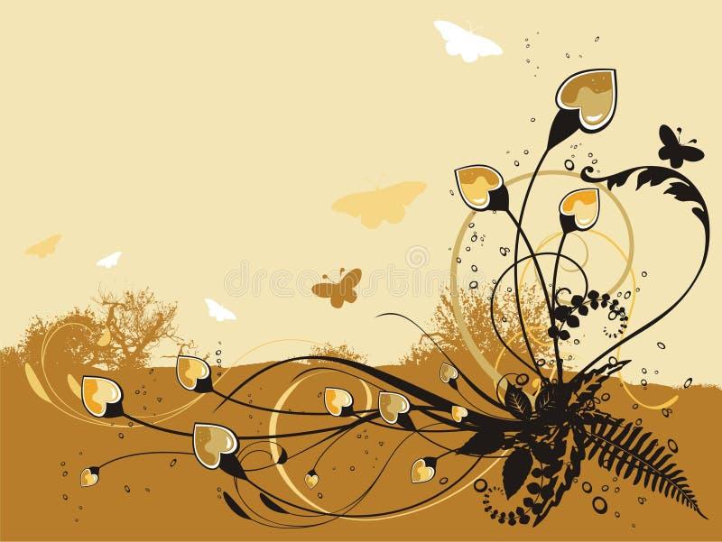Fundo floral fresco abstrato ilustração stock