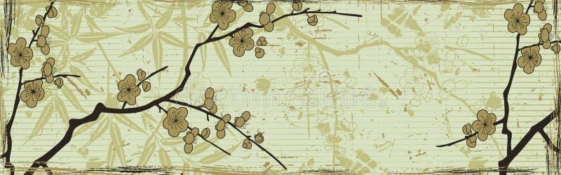 Fundo floral japonês ilustração royalty free