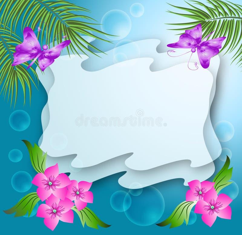 Fundo floral mágico ilustração royalty free