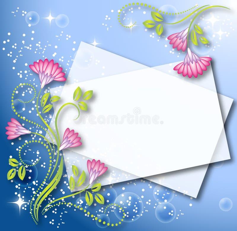 Fundo floral mágico ilustração stock