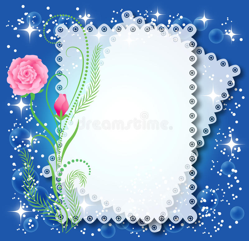 Fundo floral mágico ilustração do vetor