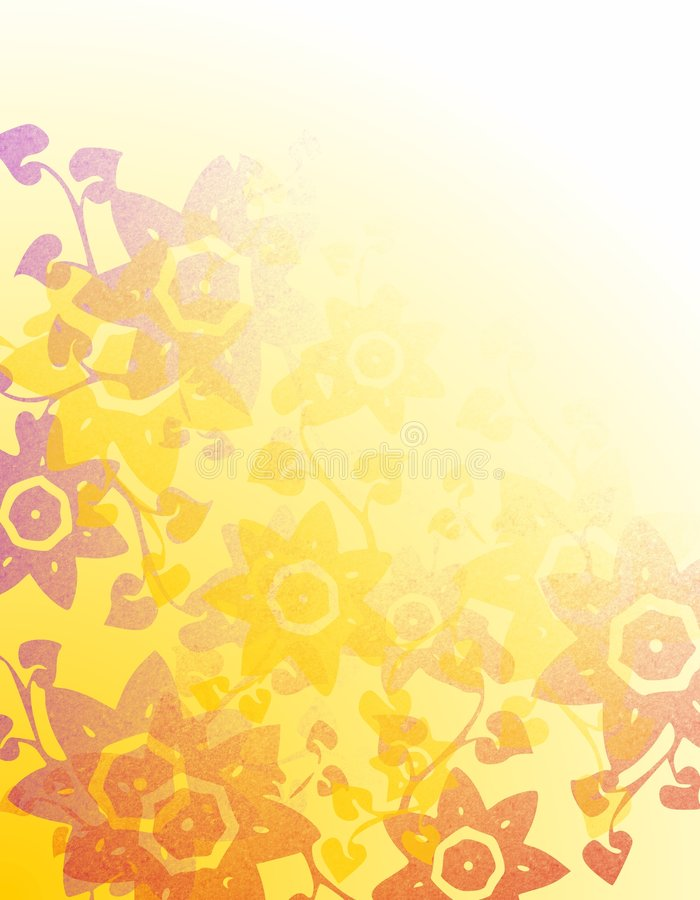 Fundo floral macio 2 dos estêncis ilustração do vetor