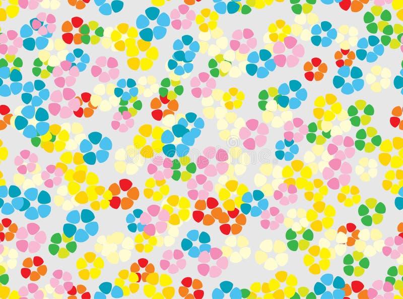 Fundo floral macio colorido sem emenda ilustração do vetor