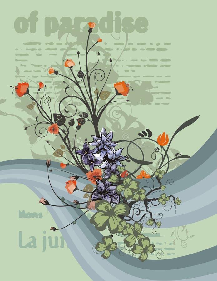 Fundo floral moderno ilustração royalty free