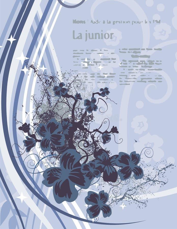 Fundo floral moderno ilustração do vetor