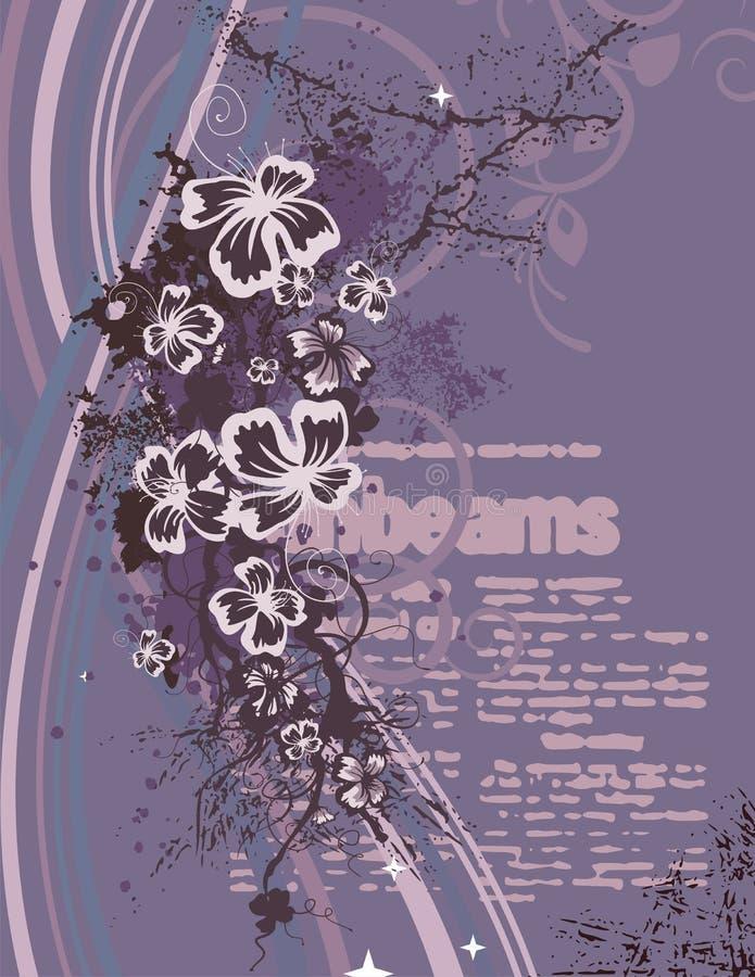Fundo floral moderno ilustração stock