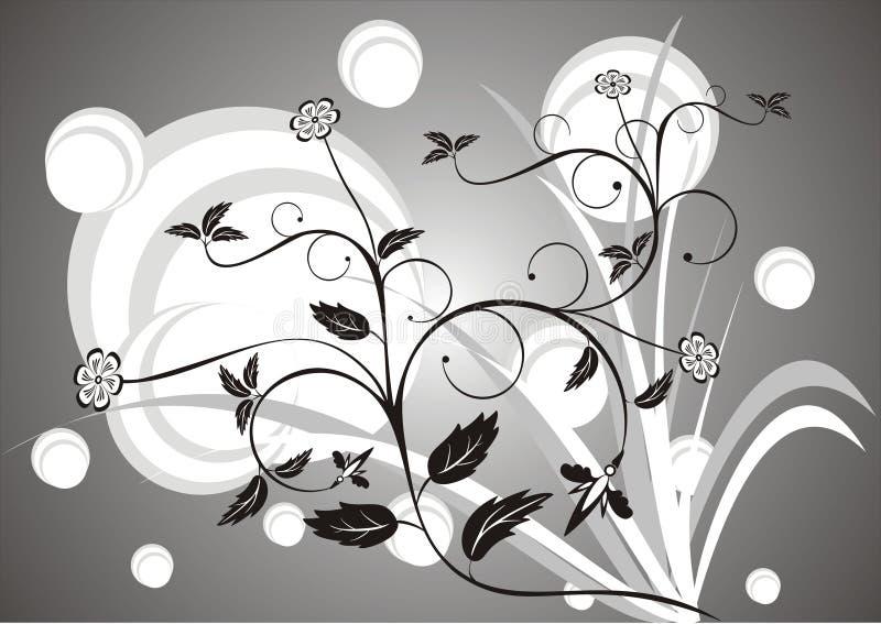 Fundo floral N1 ilustração stock
