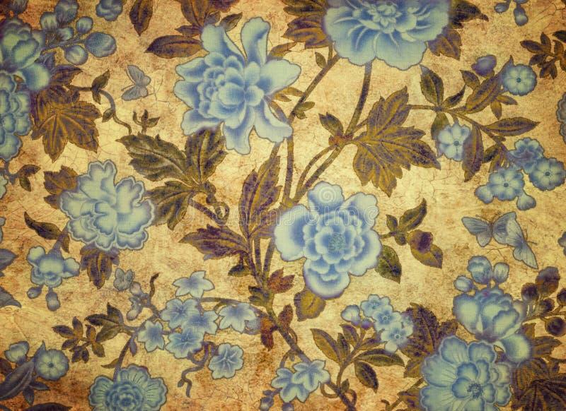 Fundo floral no estilo do grunge ilustração royalty free