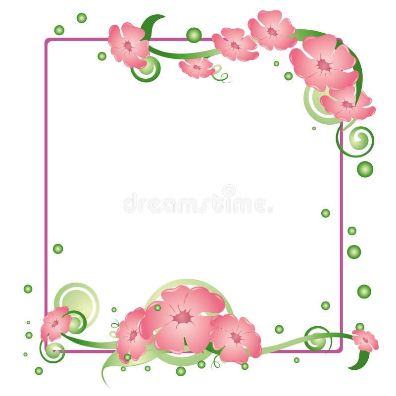 Fundo floral quadrado ilustração do vetor