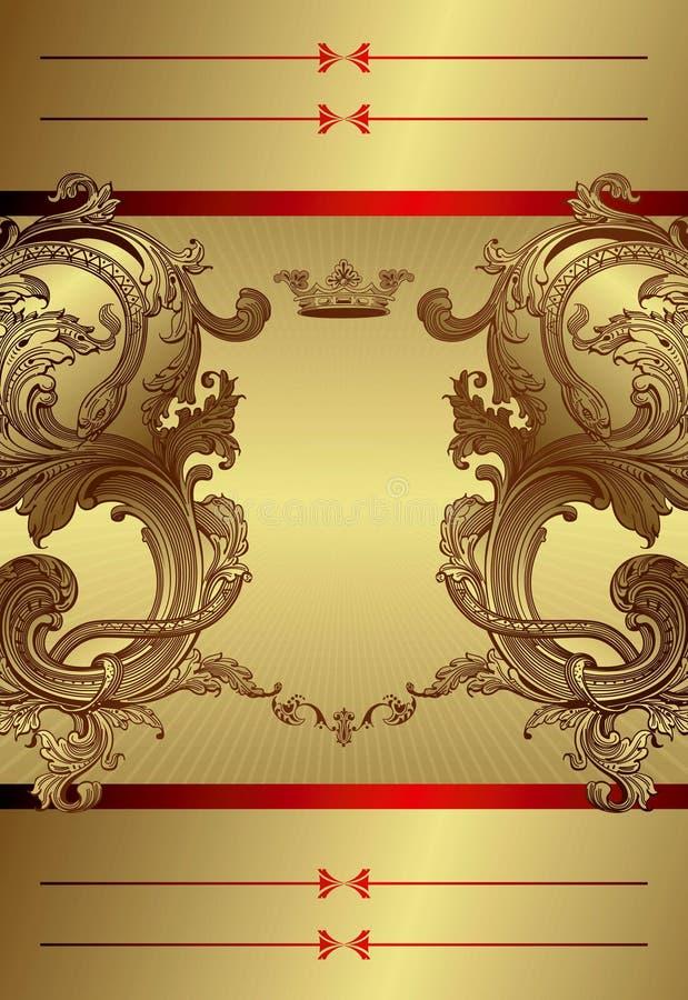 Fundo floral real do frame ilustração royalty free
