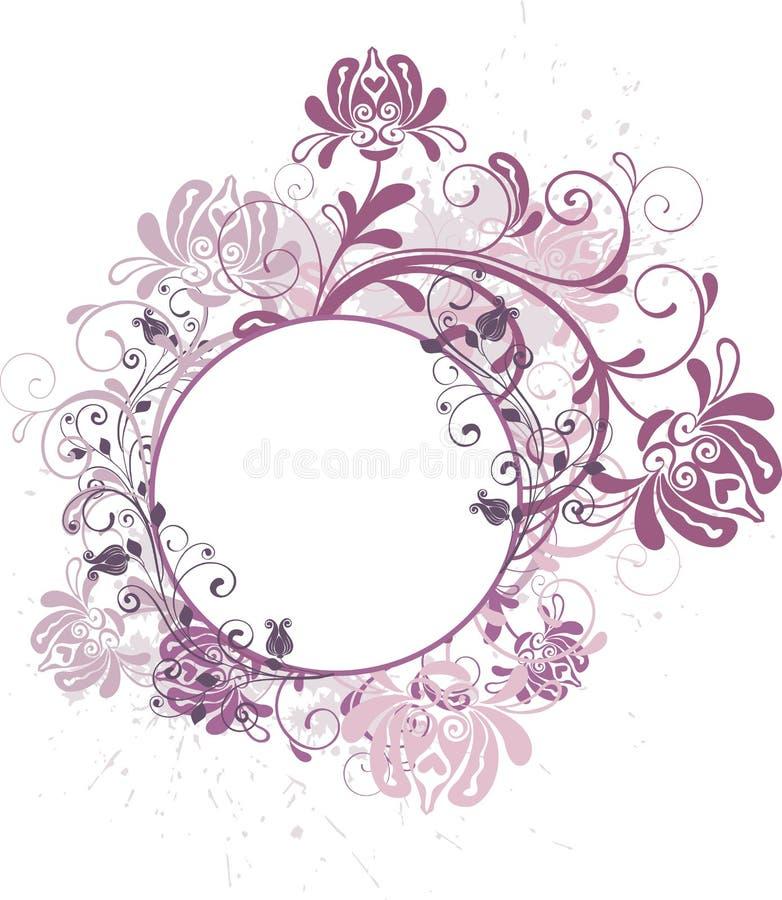 Fundo floral redondo ilustração stock
