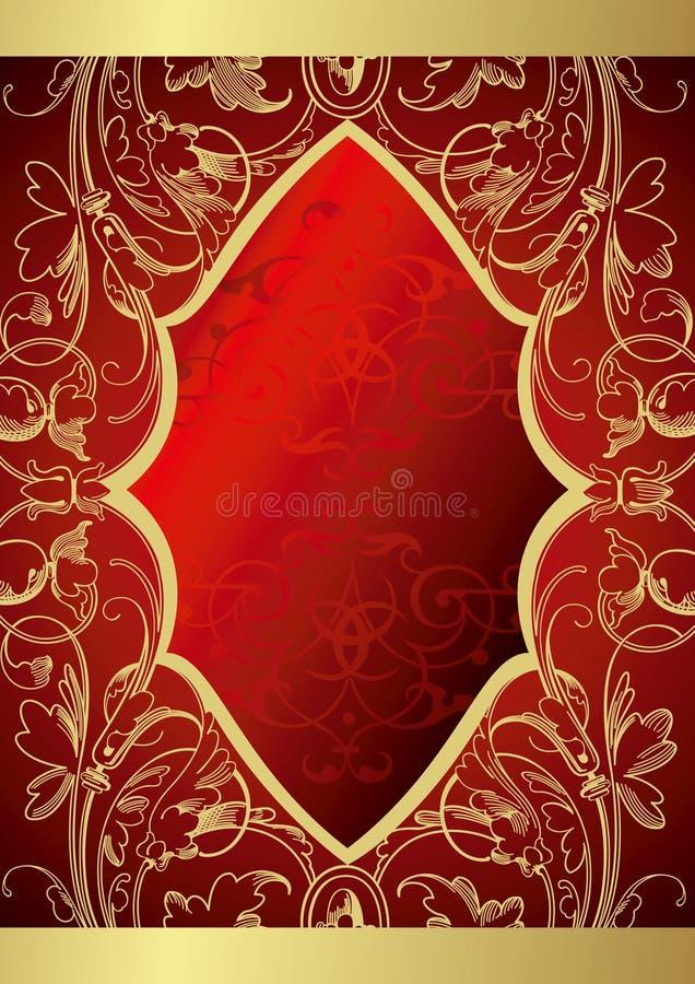 Fundo floral retro ilustração royalty free